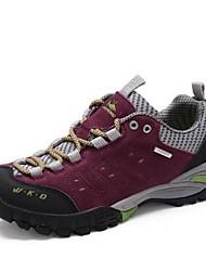 Для женщин Спортивная обувь Замша Осень Для пешеходного туризма На плоской подошве Лиловый Зеленый Синий Менее 2,5 см