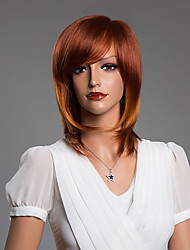 cabelo humano de alta qualidade de comprimento médio perucas 15 polegadas