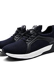 Men's Sneakers Comfort / Round Toe / Closed Toe Fabric Casual Flat Heel Lace-up Black / Blue / Gray