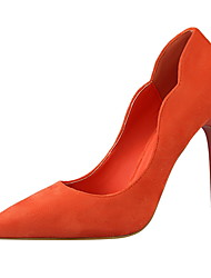 Women's Heels Winter Comfort Suede Dress Stiletto Heel Others Black / Green / Pink / Red / Gray / Orange Walking