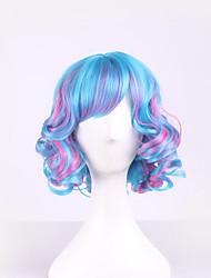 perucas sintéticas harajuku peruca encaracolado Perucas estilos de cabelo ombre peruca perucas sintéticas lolita perruque mulheres