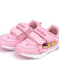 Girl's Sneakers Spring / Fall Comfort Fabric Casual Flat Heel Magic Tape Pink / Red Sneaker