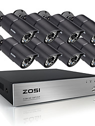 ZOSI® 8CH HDMI 720P DVR 8 pcs 1.0MP IR Home Surveillance Security Cameras CCTV System