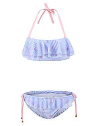 Bikinis Aux femmes Volants Licou Spandex / Nylon