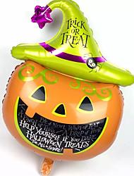 1pc alumínio abóbora filme o balão para a festa do traje do dia das bruxas