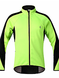 WOSAWE  Winter Fleece Thermal Windproof Cycling Long Sleeve Jacket - Green