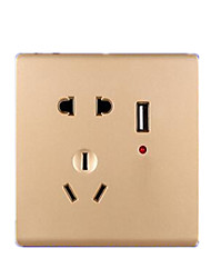 Kabellos Smart usb socket Gold