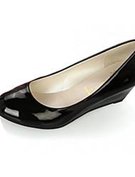 Damen-High Heels-Lässig-PU-Keilabsatz-Sandalen-Schwarz / Rosa / Rot / Weiß