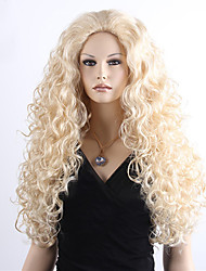 Women's Synthetic Hair Blonde Long Curly Anime Movie Brave MERIDA Cosplay Wigs