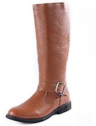 Men's Boots Fall / Winter Riding Boots / Work & Safety Cowhide Outdoor Flat Heel Buckle / Zipper  / Trail Running
