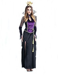 Cosplay Costumes Wizard/Witch Movie Cosplay Purple Solid Dress / Headpiece Halloween / Christmas / New Year Female Polyester