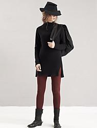 Pantaloni Da donna Skinny Semplice Cotone / Poliestere Media elasticità