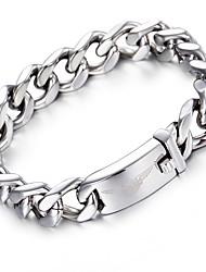 kalen®2016 prata cadeia de ligação pulseira de moda 316l motociclista de aço inoxidável pulseiras do sexo masculino cadeia acessórios presentes