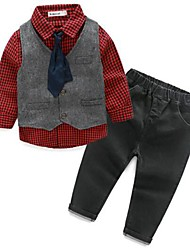Boy's Casual/Daily Solid Suit & Blazer / Clothing SetCotton Spring / Fall Red