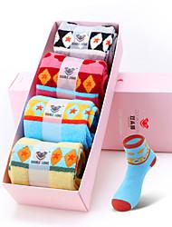 DOUBLE LIONS Women's Cotton Socks 4/box-WM0396