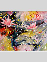 Peint à la main A fleurs/Botanique Peintures à l'huile,Modern / Classique / Traditionnel / Réalisme / Méditerranéen / Pastoral / Style