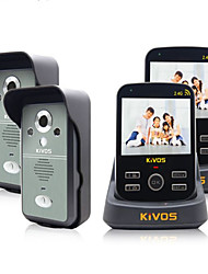 KiVOS KDB300 Wireless Visual Security Domestic Door Bell Remote Control Photograph Monitor Unlock