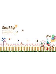 Botanique / Romance / Floral Stickers muraux Stickers avion Stickers muraux décoratifs,PVC Matériel Repositionable / Lavable / Amovible