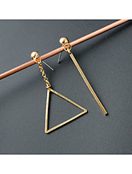 EarringStud Earrings Geometric / Triangle ShapeJewelry 1 pair Fashionable / Personality Alloy / Acrylic Gold Wedding