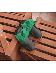 Girl's Slippers & Flip-Flops Summer Flip Flops Canvas Outdoor Flat Heel Others Black / Green / Pink Others