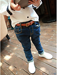 Boy's Casual/Daily Solid JeansCotton Winter / Spring / Fall Black / Blue