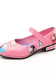 Girl's Flats Spring / Fall Closed Toe / Flats PU Outdoor Flat Heel Animal Print / Magic Tape Blue / Pink