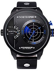 Masculino Relógio Esportivo Digital / Quartzo Japonês Impermeável Couro Banda Pendente Preta marca
