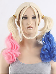 New Arrival The little Ugly Blonde Modelling Gradient Long COSPLAY Wig Halloween Wig