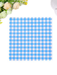 100% virgin pulp 20 pcs Grid Wedding Napkins