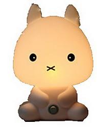 muito bonito animal cartoon coelho levou noite do quarto do bebê luz dormir quarto lâmpada luz mesa lamparina melhor para presentes