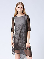 JOJ женские выходя платье оболочки вокруг шеи выше колен