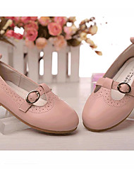 Boy's Heels Spring Summer Fall Novelty Leather Party & Evening Low Heel Others Black Pink White Others