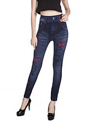Femme A Motifs Toile de jean Legging,Coton