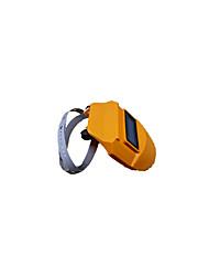Labor safety protection headset solar auto darkening welding helmet welding mask yellow 340 #