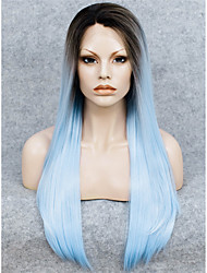 Spitze-Perücke Perücken für Frauen Blau Kostüm Perücken Cosplay Perücken