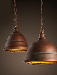Lampe suspendue ,  Traditionnel/Classique Retro Rétro Rustique Peintures Fonctionnalité for LED Designers MétalSalle de séjour Chambre à