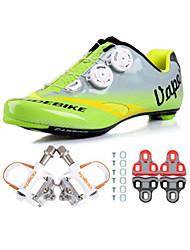 sidebike Sapatos para Ciclismo Unisexo Ao ar Livre / Bicicleta de Estrada Tênis Húmido / Almofadado Verde / Cinzento