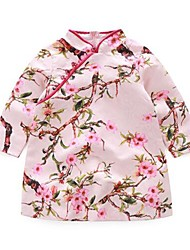 Girl's Casual/Daily Jacquard DressCotton Spring / Fall Pink