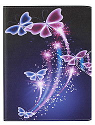 Butterfly Painted PU Leather Material Flat Bracket for  iPad Air iPad Air2