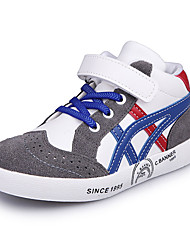 Boy's Sneakers Spring / Fall / Winter Comfort Leather / Suede Outdoor / Casual Low Heel Hook & Loop / Black / Red