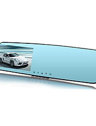 Full Chi A20 Dual Lens Rear View Mirror Driving Recorder 1080P HD Super Night Vision 4.3 Inch Screen
