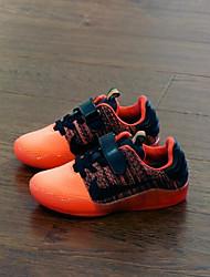 Boy's Sneakers Summer Comfort Leatherette Outdoor Flat Heel Hook & Loop Blue Yellow Dark Green Orange Others