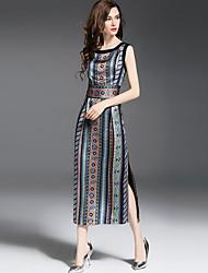Multiflora Women's Round Neck Sleeveless Maxi Dress-60181621040