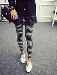 Legging A Motifs Polyester Femme