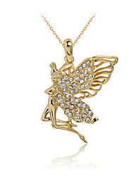 Lucky Doll Necklace Pendant Necklaces Jewelry Alloy / Rhinestone / Rose Gold Plated Daily / Casual Gold