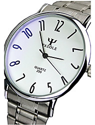 299 YAZOLE Fashion Unisex's  Dress Watch Stainless Steel Blue Ray Glass Analog Quartz Wrist Watches