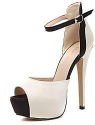 Women's Sandals Summer Peep Toe PU Casual Stiletto Heel Others Nude Others