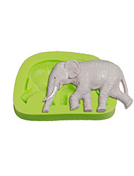 Walking Elephant Silicone Fondant Mold Cake Decoration Sugarcraft Tools Polymer Clay Fimo Chocolate Candy Soap Making