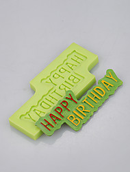 Happy birthday card shape birthday cake decoration silicone mold of food grade silicone mold