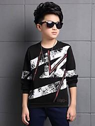 Tee-shirts Boy Imprimé Décontracté / Quotidien Coton Hiver Noir / Blanc